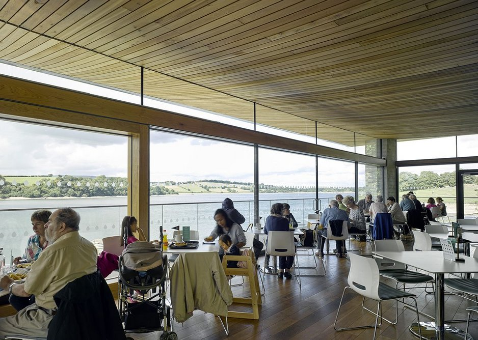 A retreat in the visitor centre cafe, somewhere to enjoy the reservoir in comfort.