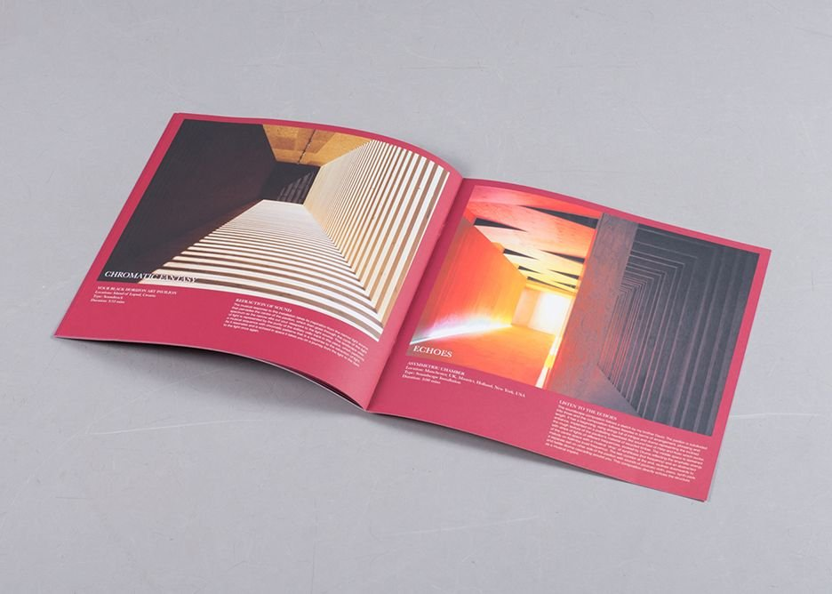 Illustrated track notes within the gatefold vinyl edition of Dialogues Music for Architecture by Peter Adjaye.