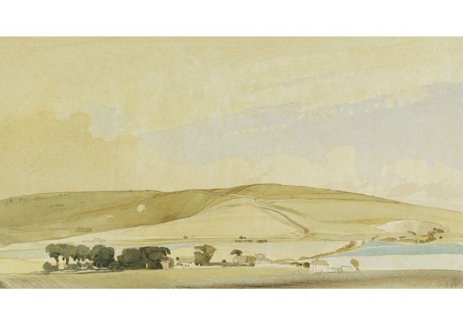 Charles Knight, The Southdowns, Underhill Road; in the Cuckmere Valley at Milton Street, Sussex, 1940. Given by the Pilgrim Trust.