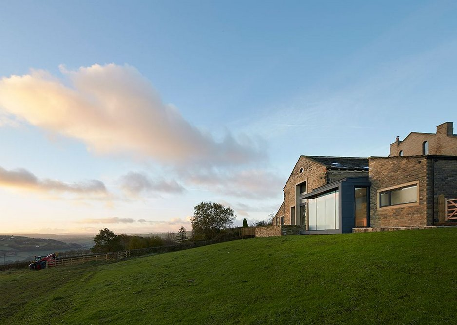 Substantial new house made from previously derelict Thorney Lane Barn: the landscape the practice operates in.