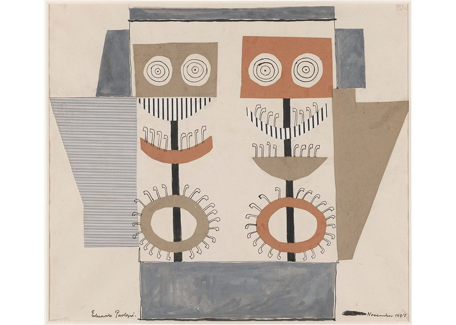 Eduardo Paolozzi, Fun Fair, 1947, collage, ink and watercolour on paper, Government Art Collection.