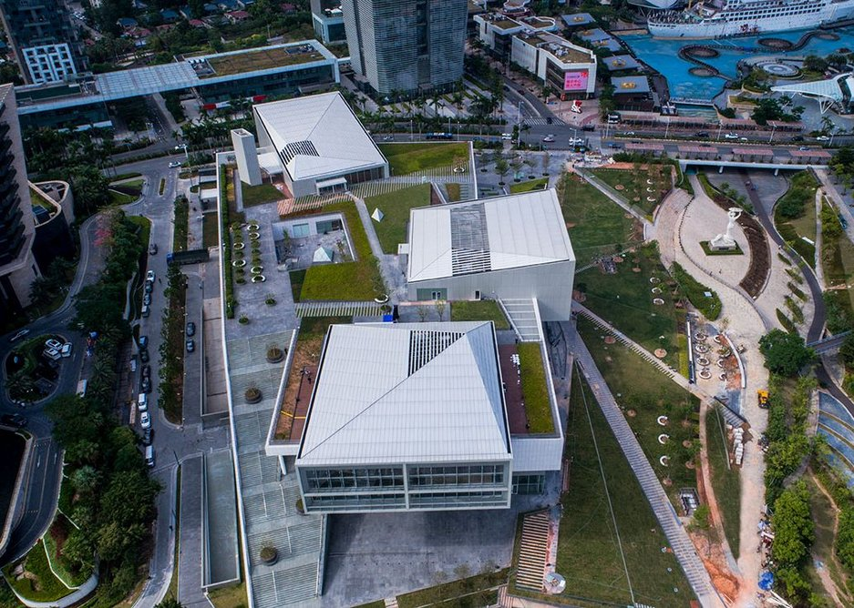 Landscaped civic space as much as museum.