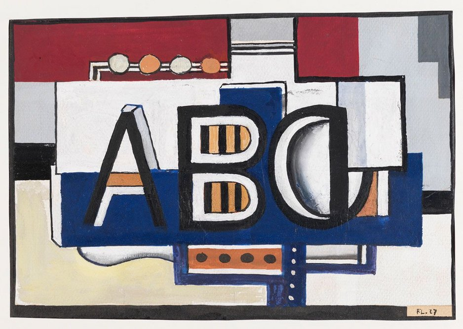 ABC, 1927, by Fernand Léger, 1881-1955. Tate: Presented by Gustav and Elly Kahnweiler 1974, accessioned 1994.