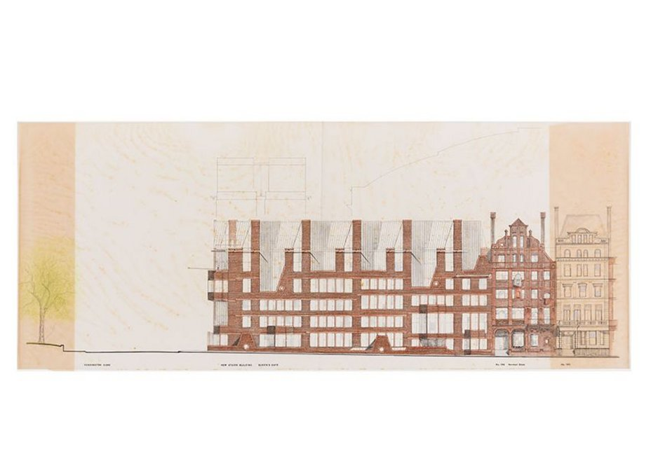 HT Cadbury-Brown, proposed extension for the Royal College of Art, Queen's Gate, 1972.