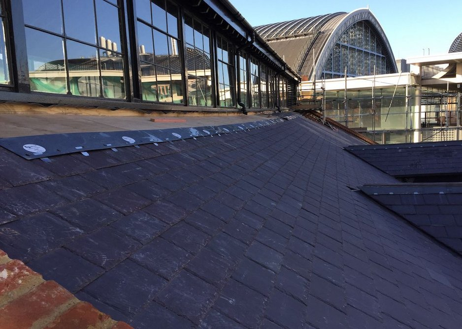 Welsh Slate provided technical advice on the complicated detailing.