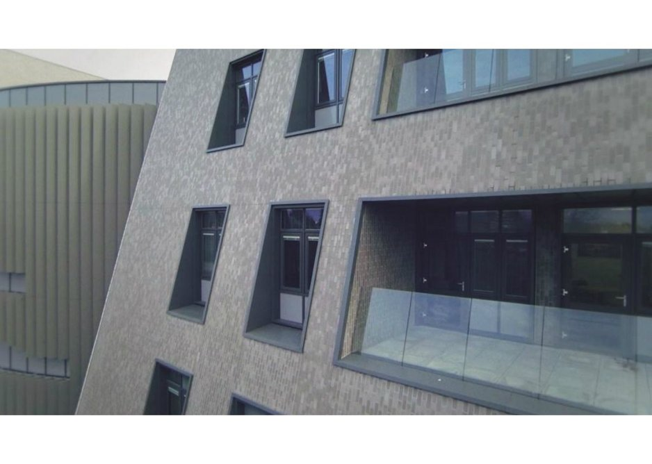 Corium brick  cladding used on balcony  and soffit areas