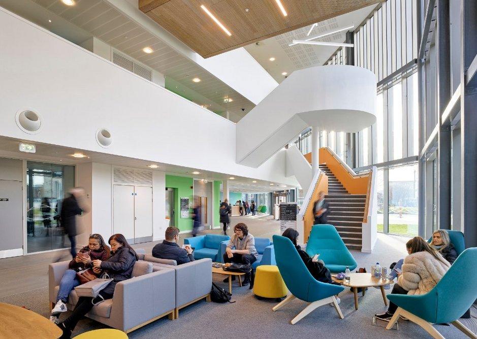 Teesside University Student Life Building, Middlesbrough.