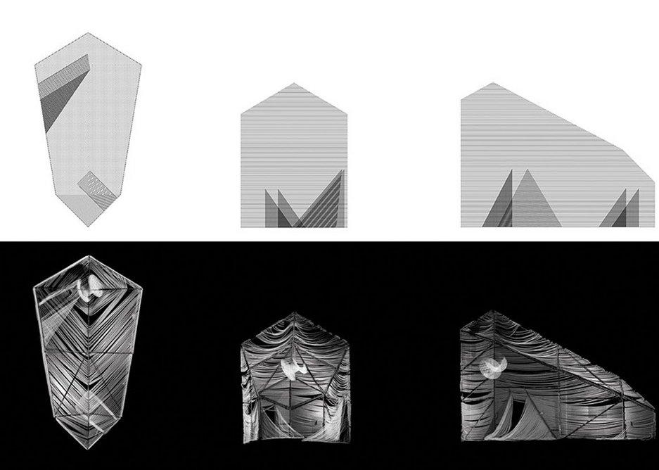 Rope House, 3D model vs digital scan.