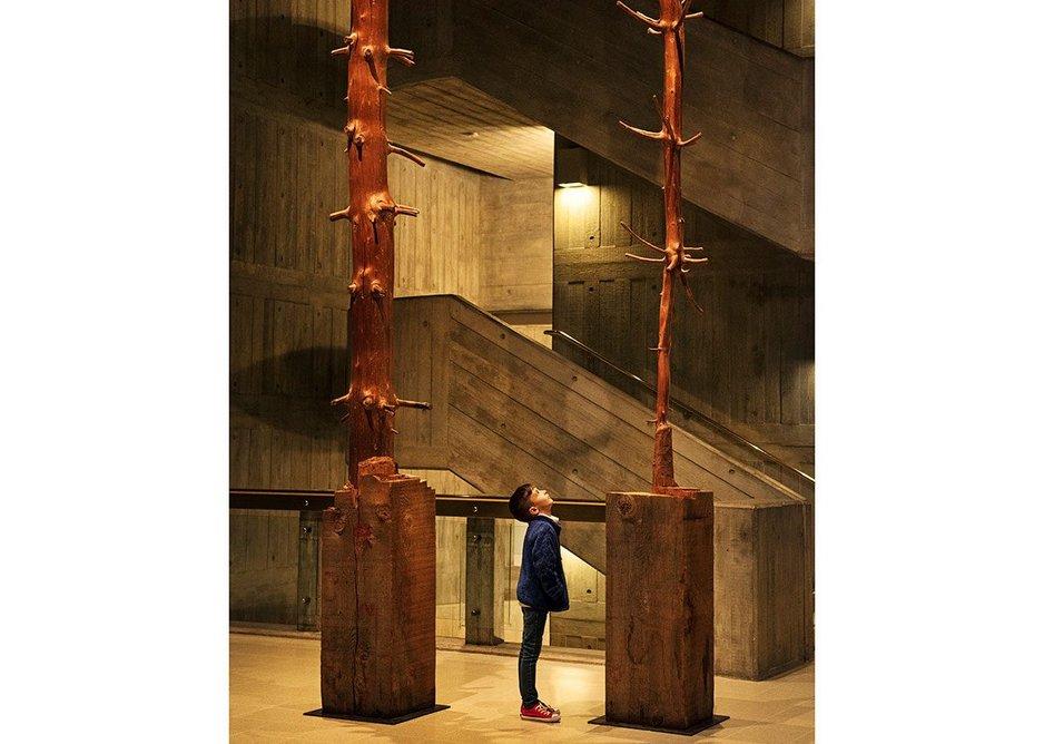 Giuseppe Penone, Tree of 12 Metres, 1980-2, at Among the Trees, Hayward Gallery, 2020. ©