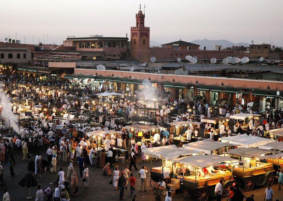 Night market in Marrakech, Morroco.