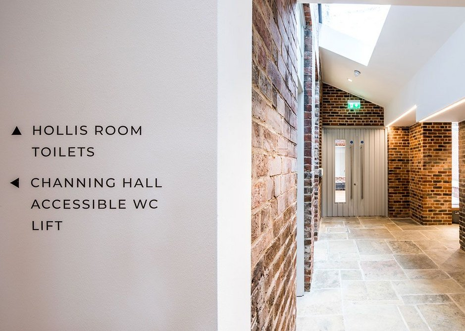 Good natural light, materials reused where possible. The Hollis Building Sheffield, Chiles Evans and Care architects, RIBA regional award and small project of the year 2019. Credit Dug Wilders