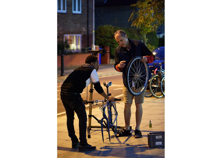 How do you get people participating in the city? The Bike Project supplies abandoned bikes to refugees to give them autonomy and a chance to bond with their new city.