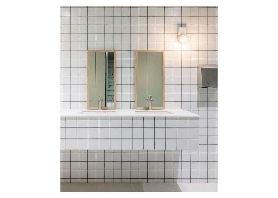 Basic but good - the shower and washroom area.