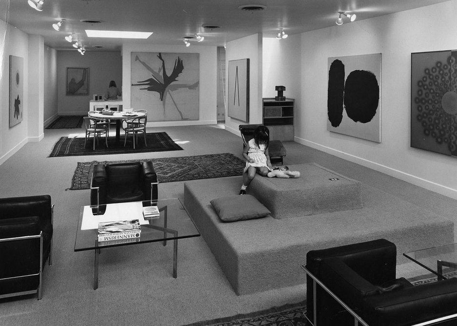 Frank Stella apartment, with interiors designed by Richard Meier in 1967. Courtesy Richard Meier & Partners Architects.