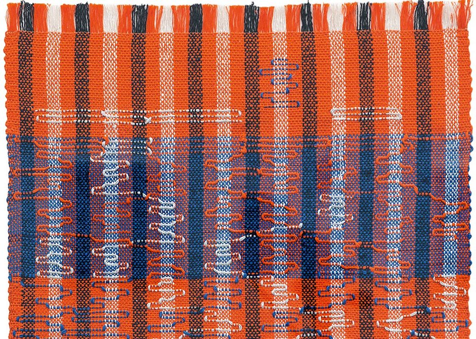 Intersecting, 1962, Anni Albers. Pictorial weaving, cotton and rayon.