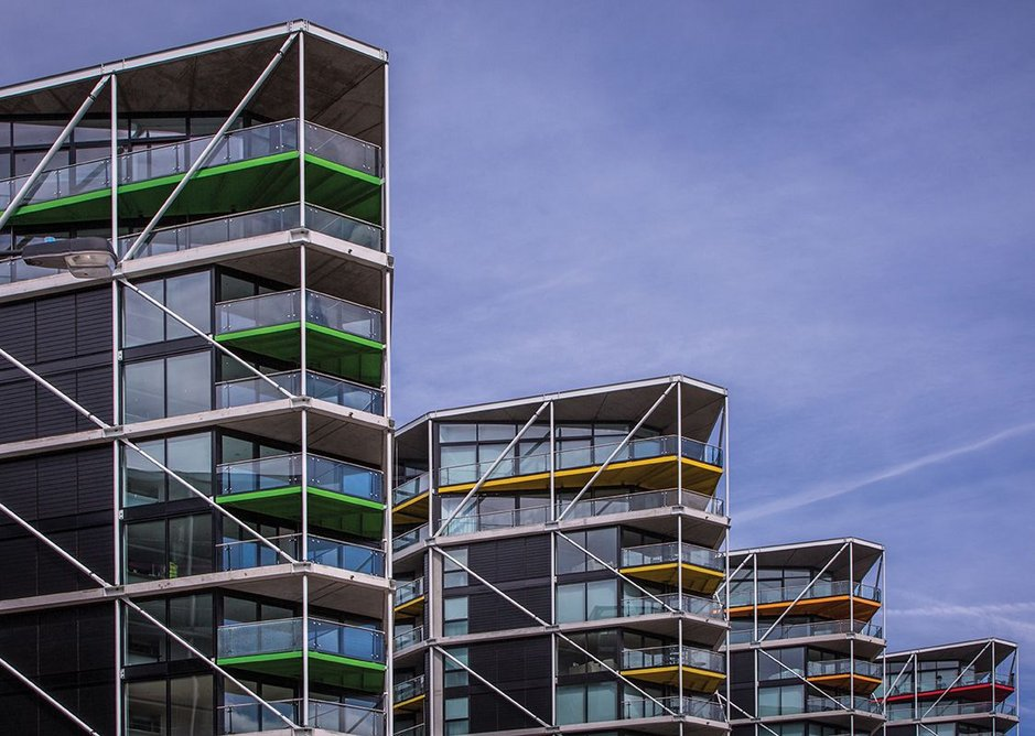 Prow end at Riverlight, designed by Rogers Stirk Harbour + Partners.