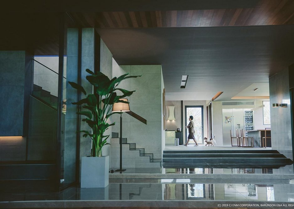 Film set designed by Lee Ha Jun for the Park family home in the film Parasite.
