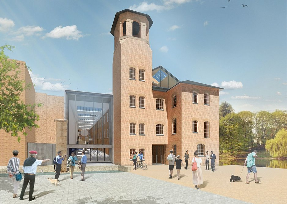 South elevation and new extension for the Derby Silk Mill, the second project to use IPI and the first that is a renovation. It is on site.