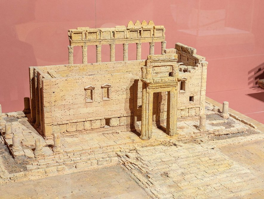 The now destroyed Temple of Bel at Palmyra, remembered in cork by Dieter Collen. Photo: c) Chris Jackson