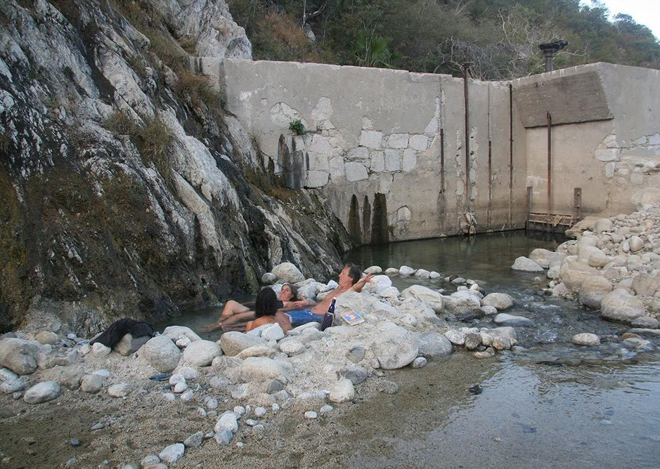 Hot spring near dam, Baja California, Mexico, 2009.