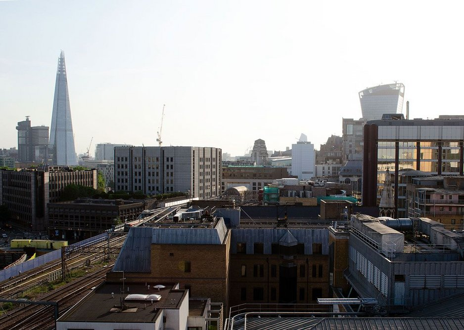 View from roof terrace where welcome drinks & canapes were served