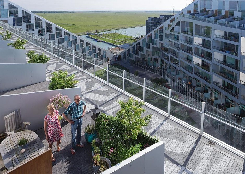 8-House (2010). The largest private development in Denmark; mixed-use and all crowned with a connecting ramped walkway.