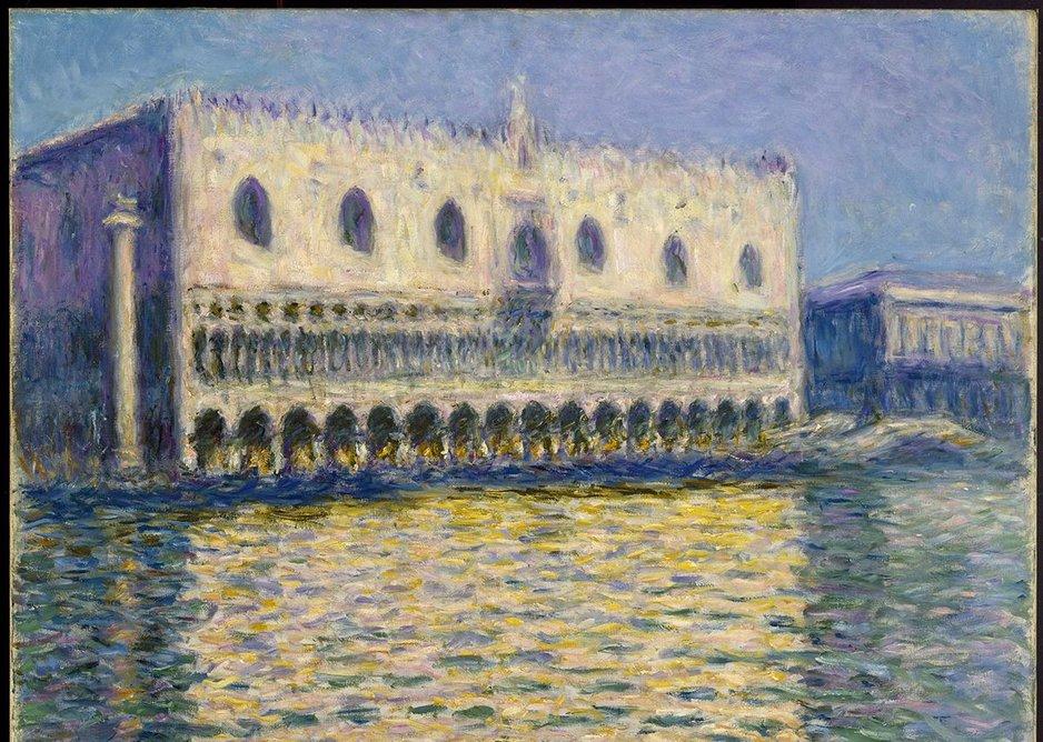 Claude Monet, The Doge's Palace (Le Palais ducal), 1908.