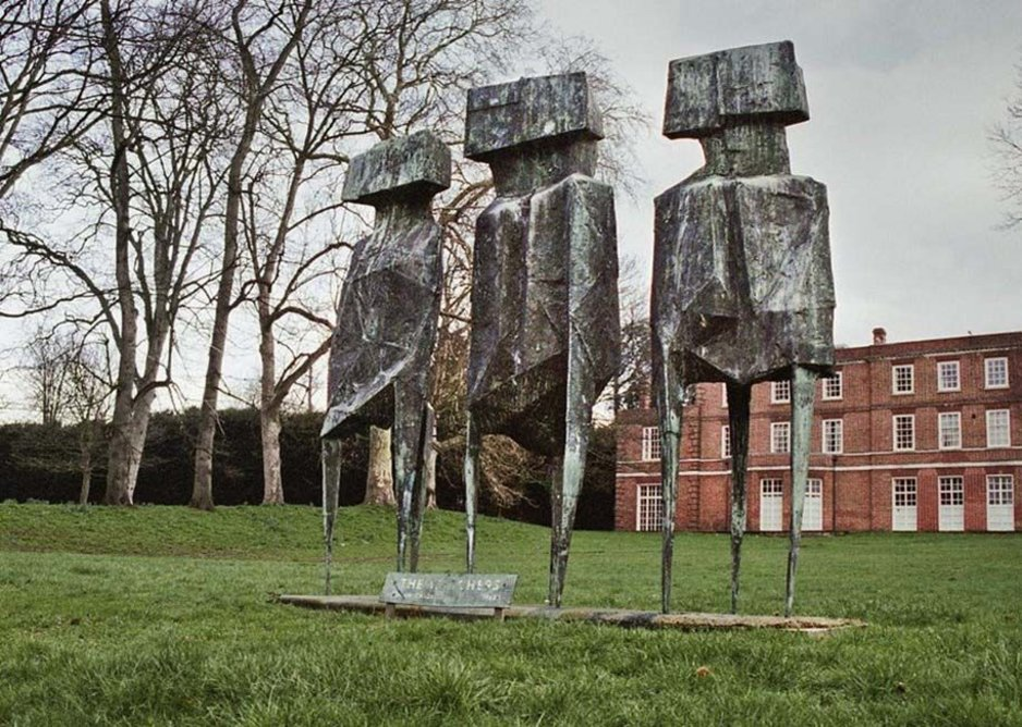 In 2006 thieves stole one of the three figures that make up The Watchers  by Lynne Chadwick at Roehampton University.