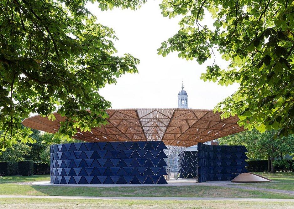 This year's Serpentine Pavilion, designed by Kéré Architecture.