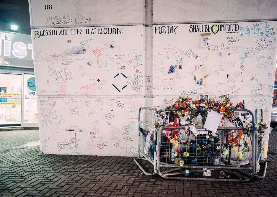 One of the memorials on Bramley Road under the Westway dual carriageway.