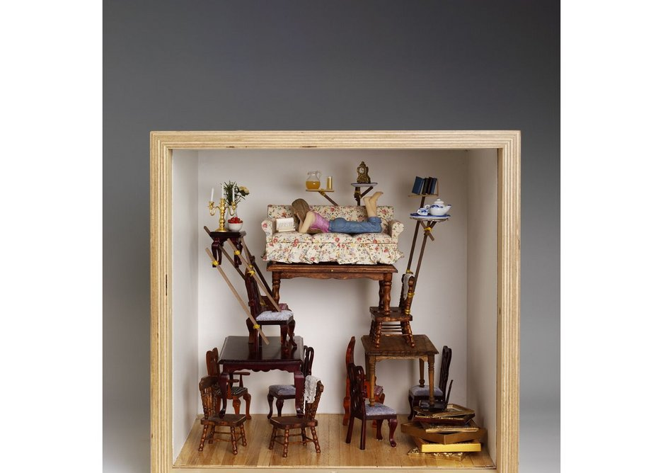 Offline Hideaway, where no tablet can touch you. Designed by Dominic Wilcox as part of the Dream House installation.