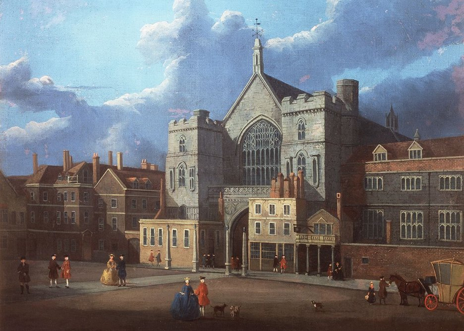 Westminster Hall and New Palace Yard about 1795. Oil painting attributed to Thomas Sandby © Parliamentary Art Collection