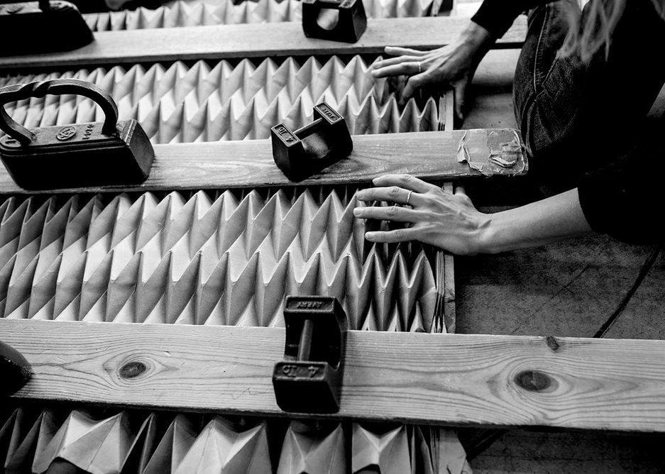 Jule Waibel turning flat sheets into three-dimensions