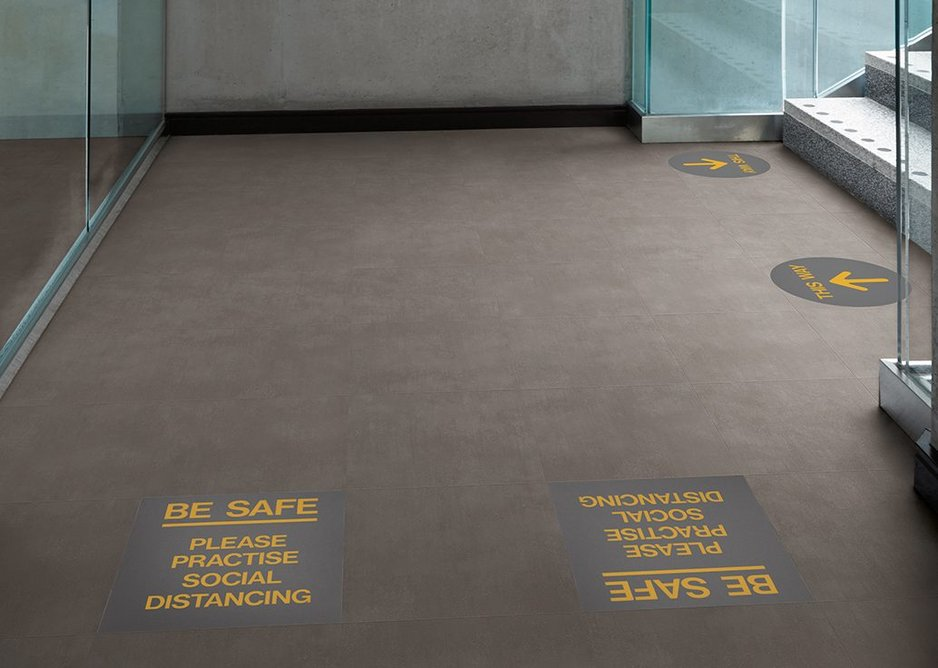 Amtico Be Safe Please Practise Social Distancing.