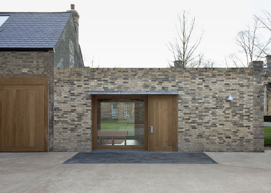 A modest extension to the old maintenance sheds and one time stables.