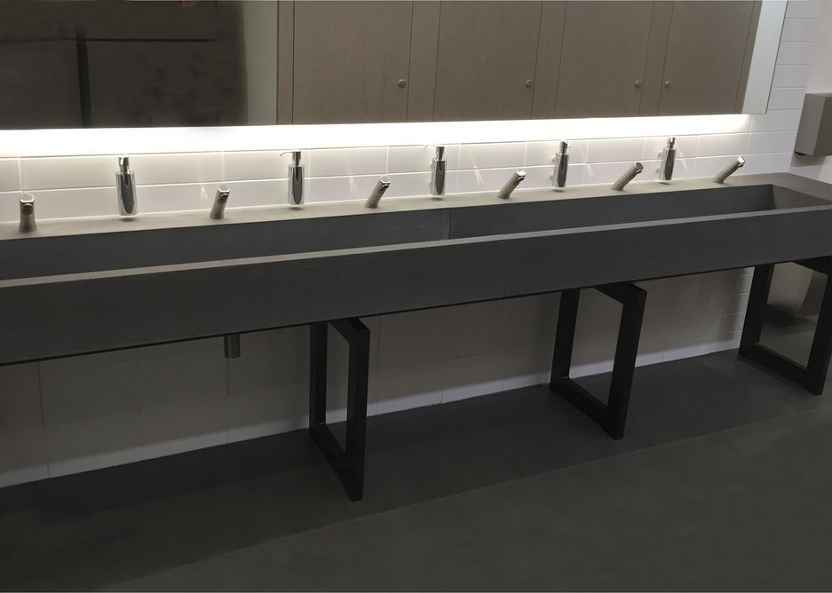 The Lazenby washbasin is nearly 4m long.
