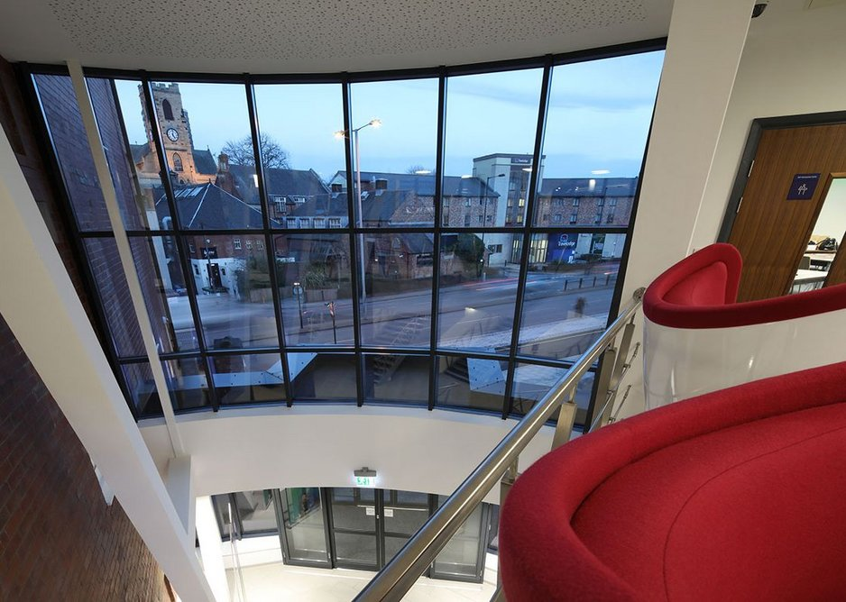 Senior Architectural Systems aluminium glazing solutions have been specified to create a light and spacious design.
