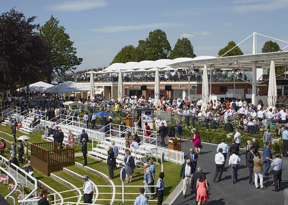 Phase 2 includes the redevelopment of the champagne lawns and John Carr stand as well as new pavilions for retail and refreshment units.
