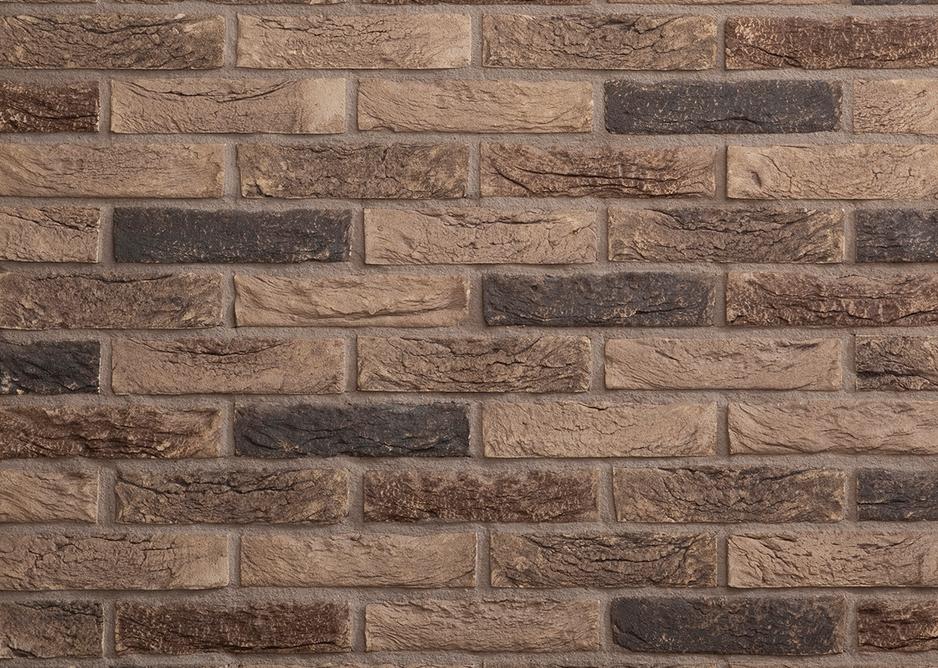 Lithium external facing bricks in muted grey, buff and black.