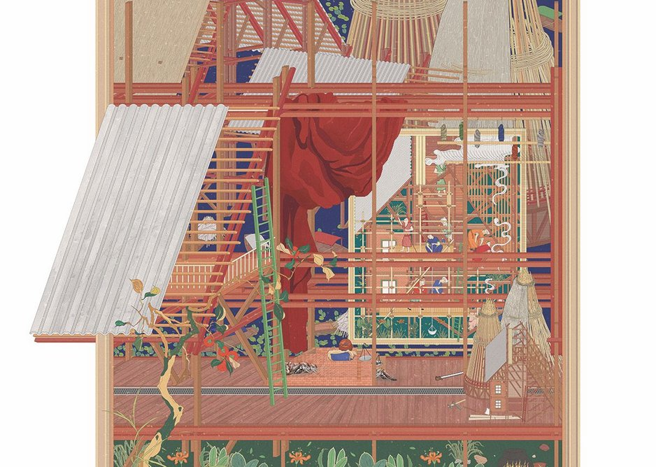 On the Margins of Utopia. Digital mixed media, 594mm × 841mm.
