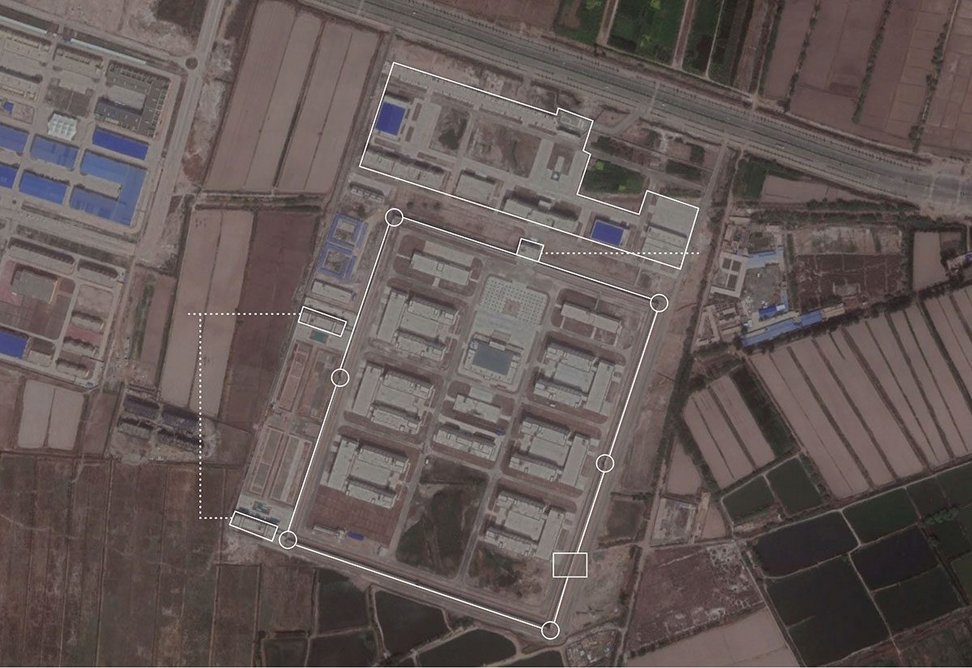 One of the camps as revealed by Killing's work. BuzzFeed News and Google Earth.