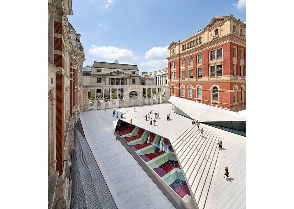 The Sackler Courtyard and Cafe, V&A Exhibition Road Quarter,  designed by AL_A.