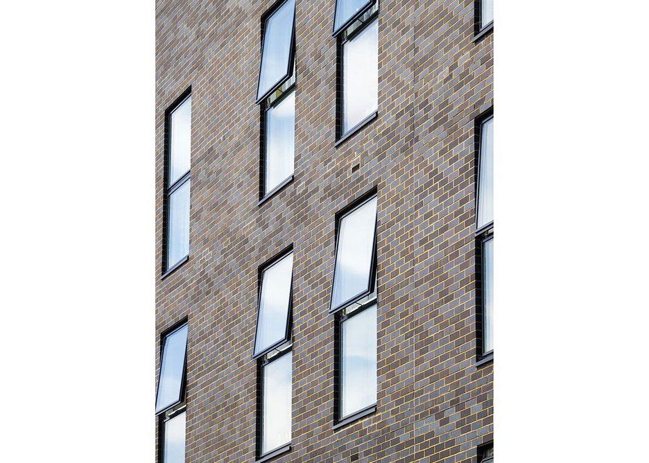 All opening Velfac window units are reversible so they can be cleaned from the inside. The external aluminium frame needs no repainting.