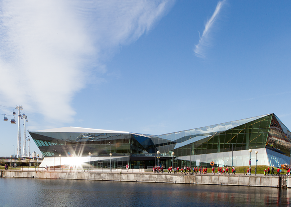 The Crystal at Royal Victoria Dock in London. Commissioned by Siemens, the building is to be the new home of the Mayor of London and the Greater London Authority. Photo: © WilkinsonEyre