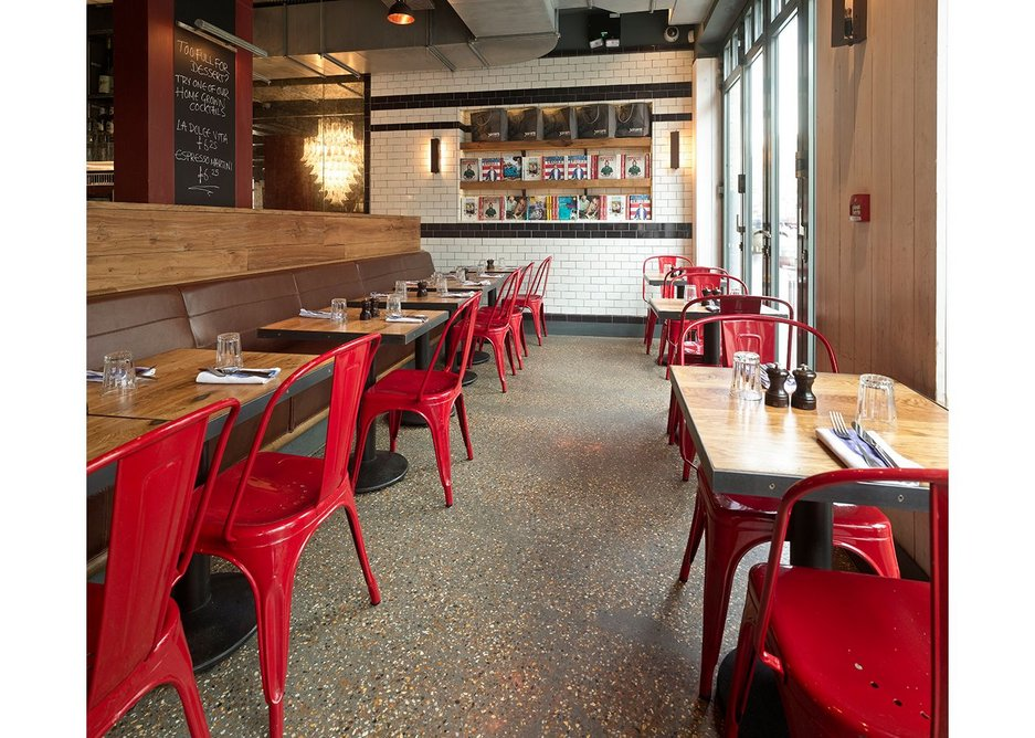 Diamond polished concrete, delicious Italian food and a great company is a recipe for long-lasting success.