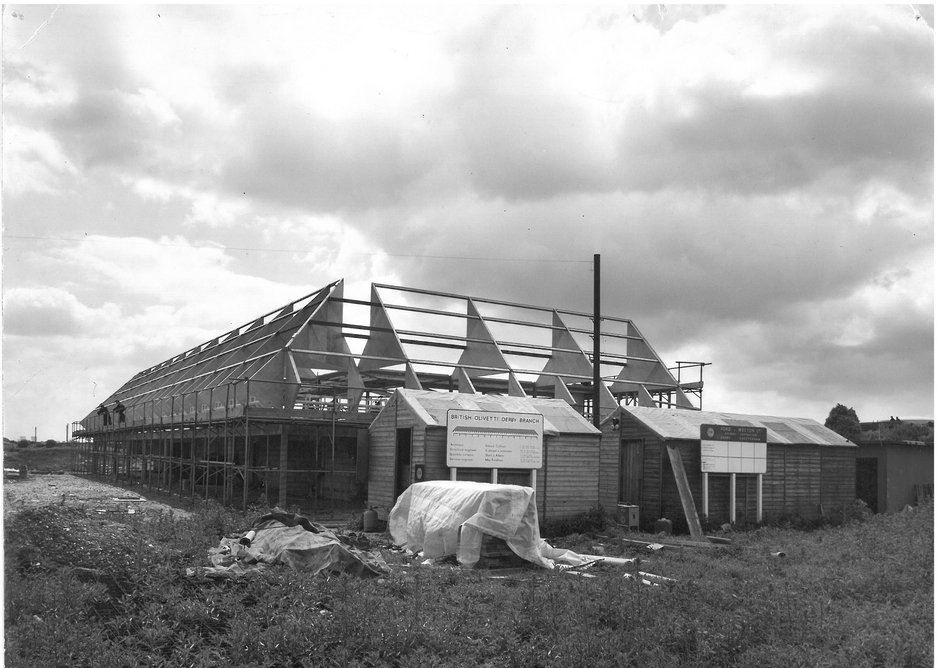 On site in Derby with the glued plywood superstructure.