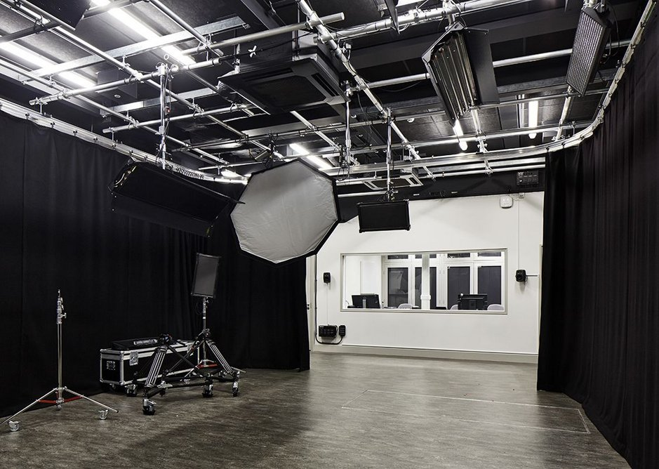 Studio for video effects work in the basement.