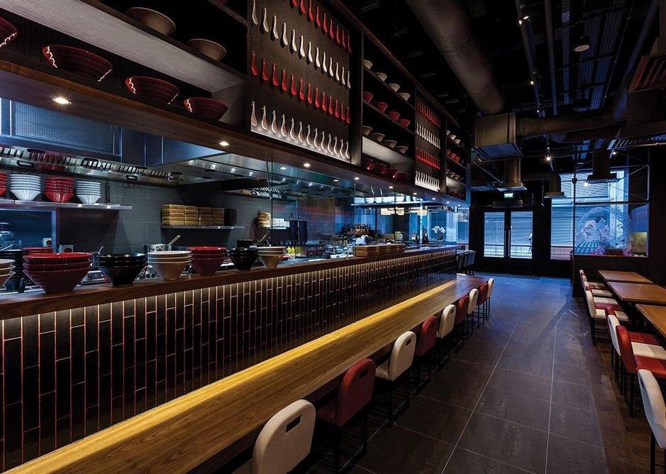 Ippodo at Canary Wharf, designed by Stiff + Trevillion Architects.