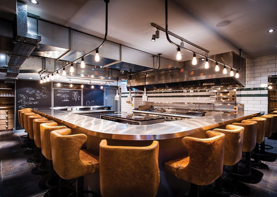 B3's Kitchen Table in Fitzrovia, central London, gives diners front row seats to see the chef at work in the kitchen.