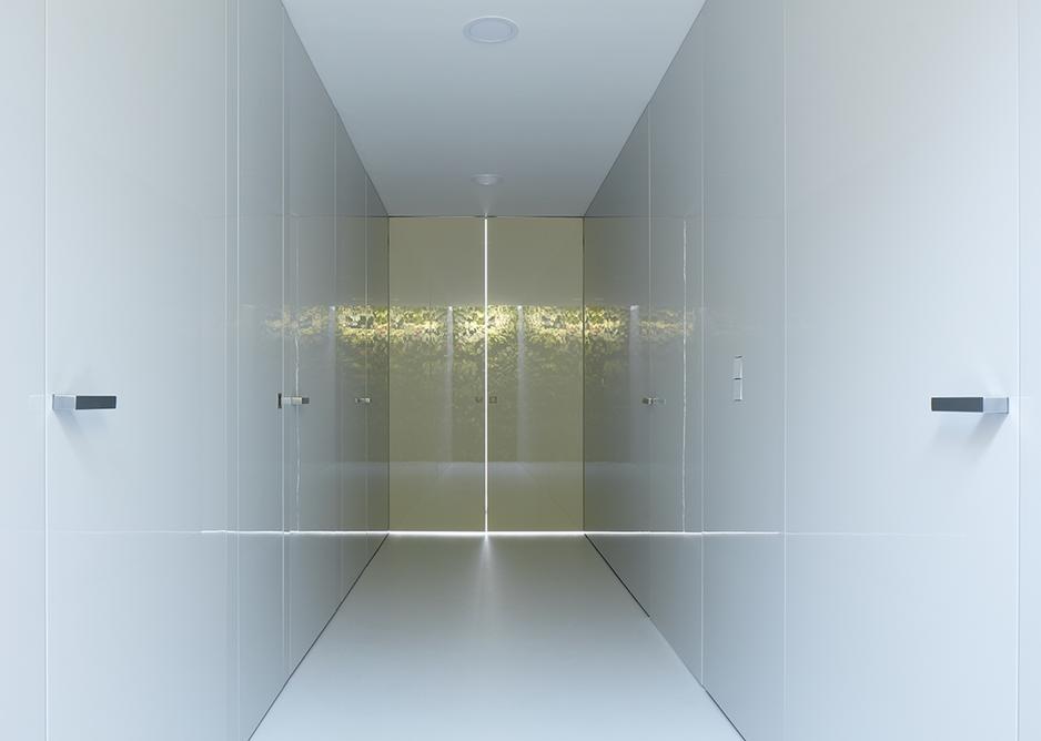 White interior surfaces create a feeling of calm.